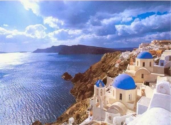 Santorini Greece, Sunset, Caldera