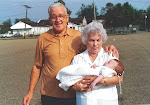 Grandma + Grandma Meyer with Brooke at her christening at St. Francis Xavier Church