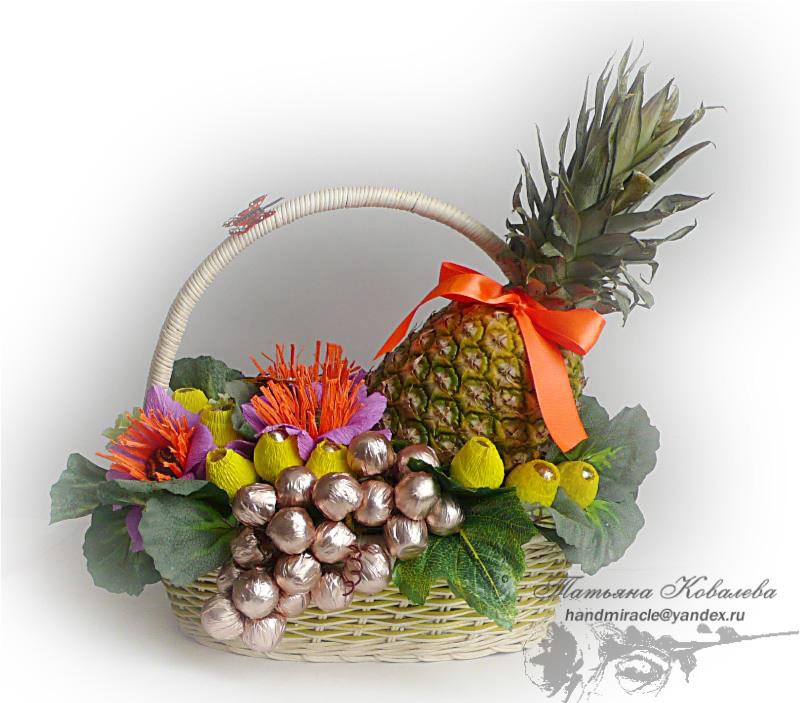 Композиция из фруктов и конфет своими руками 45