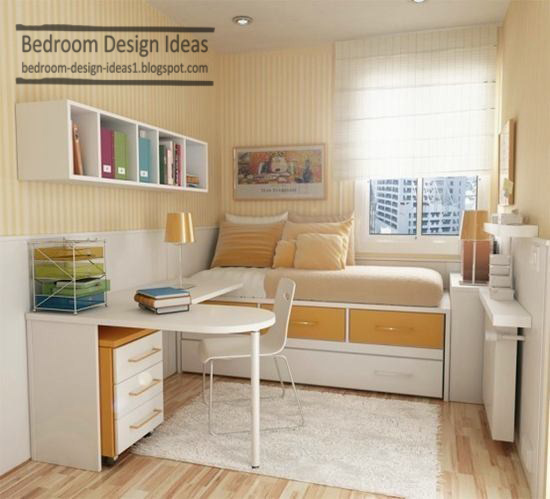 Bedroom design ideas bed wall decoration with book shelves for Book bedroom ideas