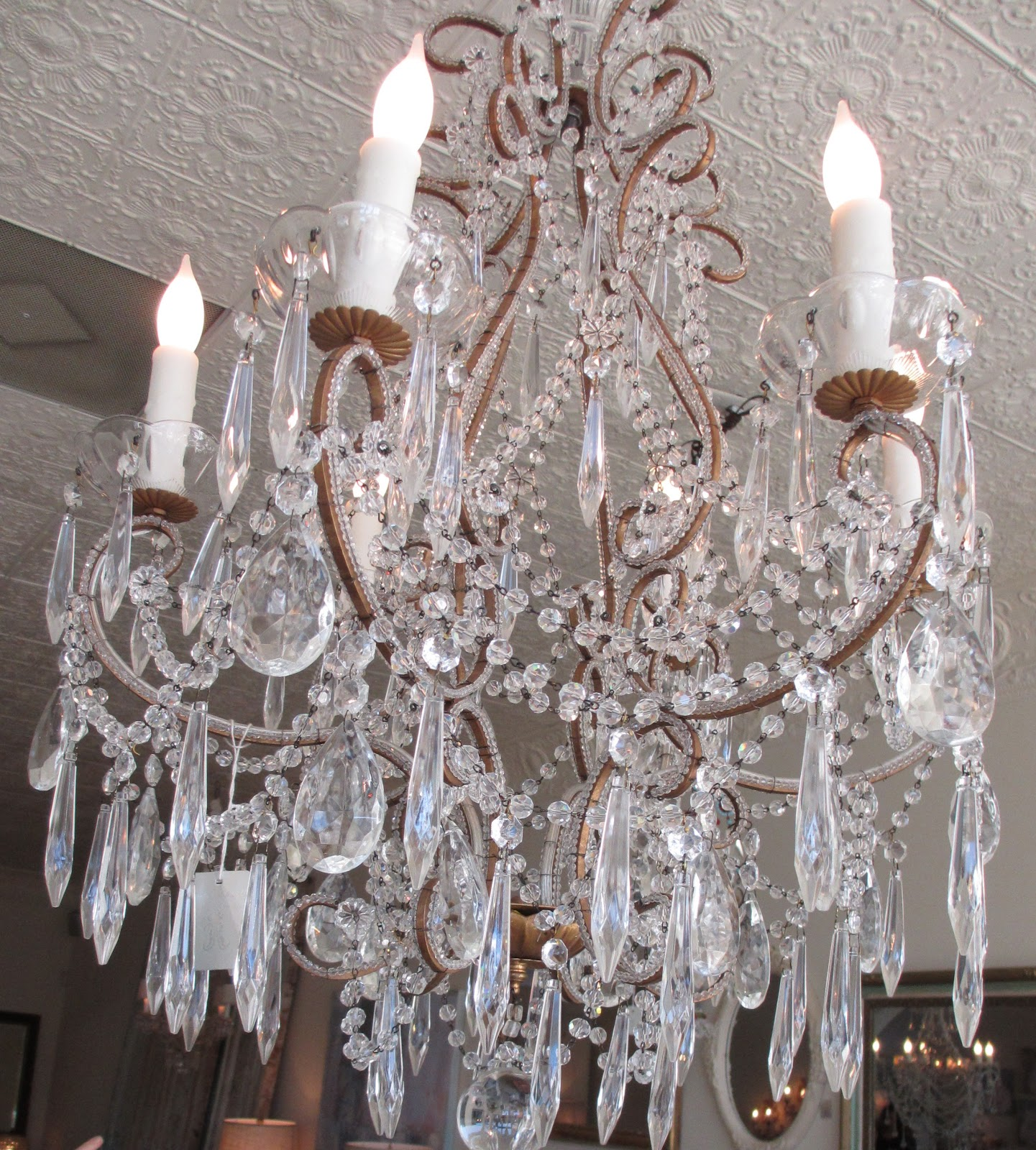 Shabby Chic Chandelier Distressed Barrel Chandelier Farmhouse