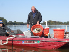 Early a.m. crabbers on the East Wye River filled 3 bushel baskets. Happiness!