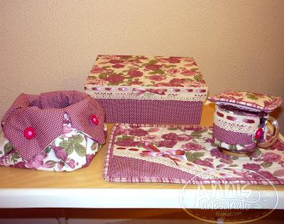 annis artesanato mug rug rosa antigo