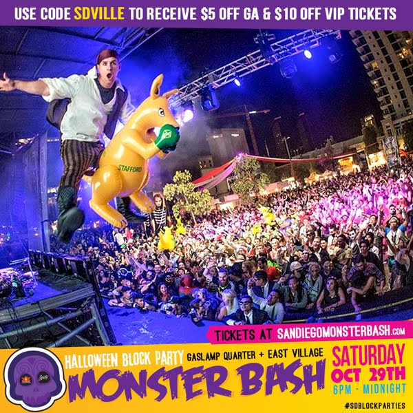 Save on Passes & Enter to win VIP tickets to San Diego Monster Bash - October 29!