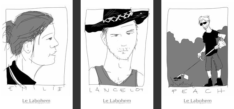 LP Émilie, Lancelot et Peach