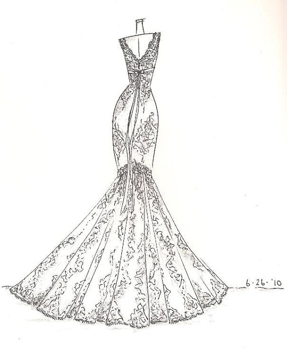 Spotted Ink: Custom Dress Sketch
