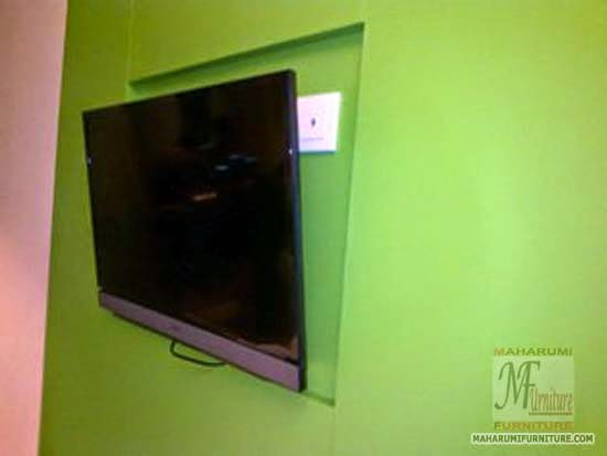 Projects Hotel Pop Tebet Jakarta: Backwall Bracket TV Kamar Hotel