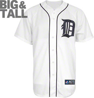 Big and Tall Detroit Tigers MLB Baseball Jersey