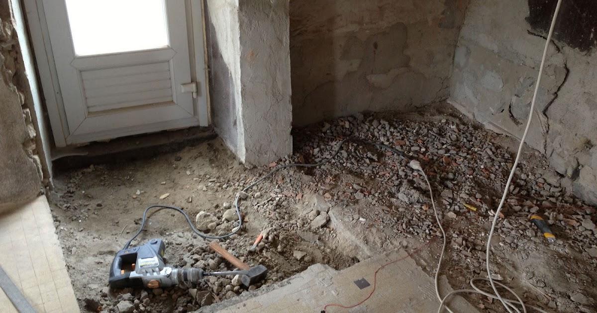 R novation de ma maison dalle b ton du salon for Beton salon