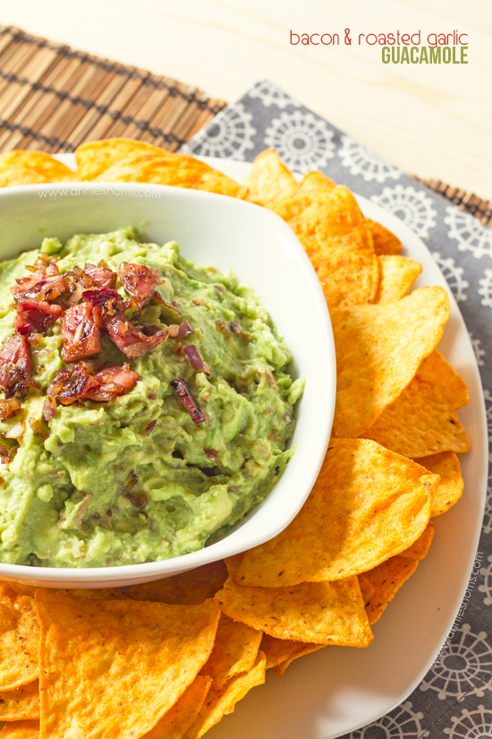Featured Recipe: Bacon & Roasted Garlic Guacamole from Annie's Noms #secretrecipeclub