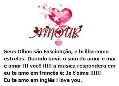 Mensagens de amor para celular - Eu te amo em inglês i love you