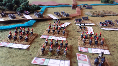 The French 1st and 2nd Carabiniers wait to advance.