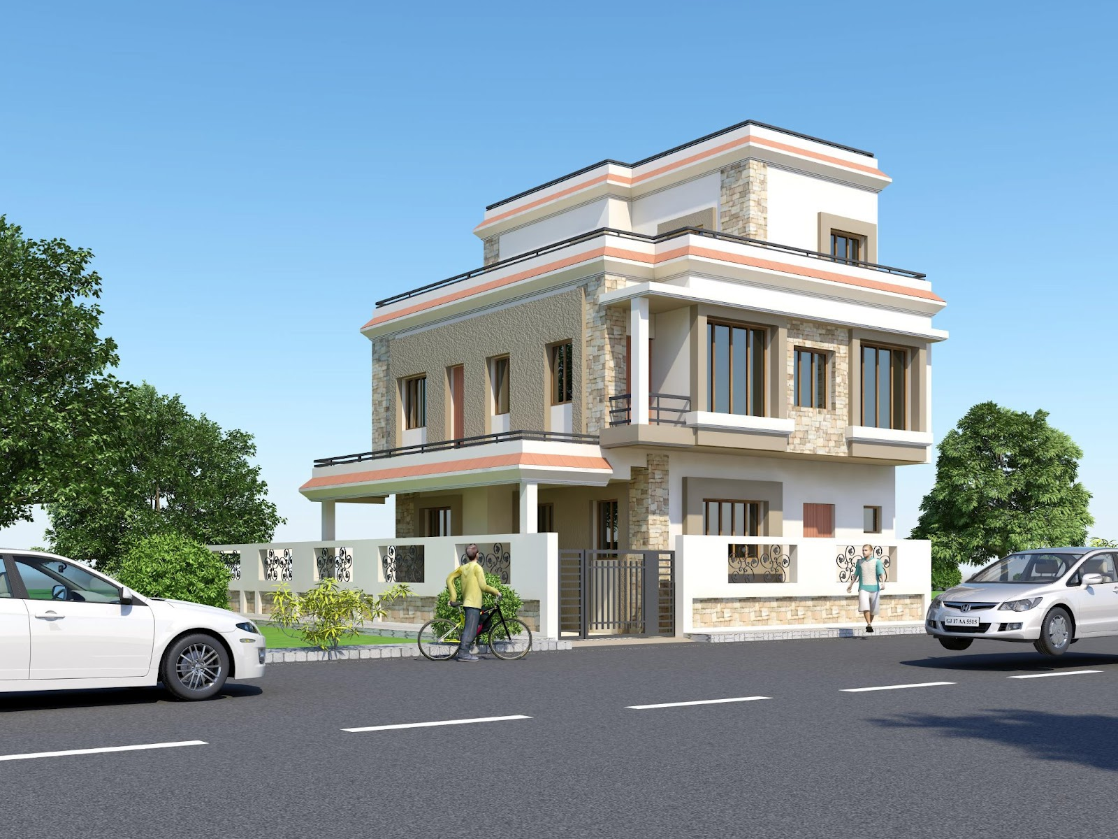 Home Front Elevation Uk : D front elevation india pakistan house design