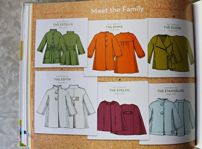 cape and jacket sewing patterns from The Magic Pattern Book by Amy Barickman