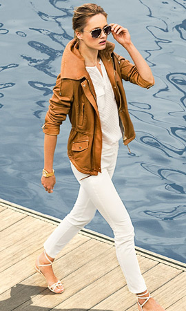 Massimo Dutti mujer verano 2013 chaqueta piel