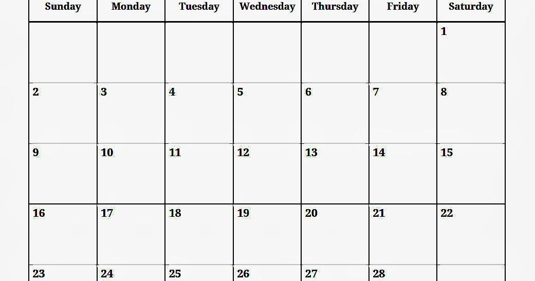 February 2014 Calendar Printable 1 Printable Calendar