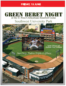Green Beret Night Chihuahuas Baseball