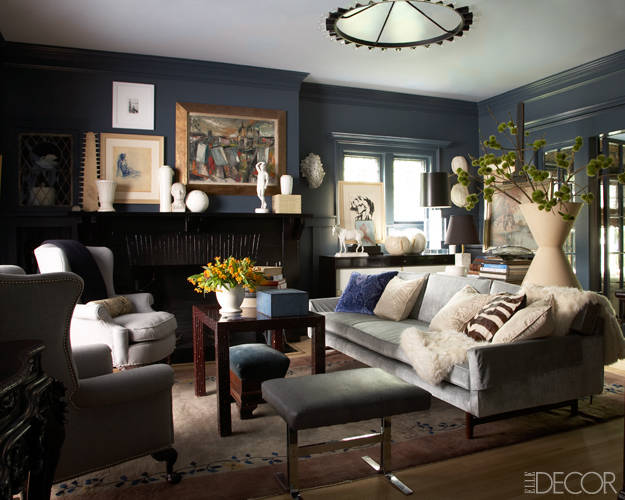 Alive kicking elle decor collective effort Sophisticated paint colors for living room