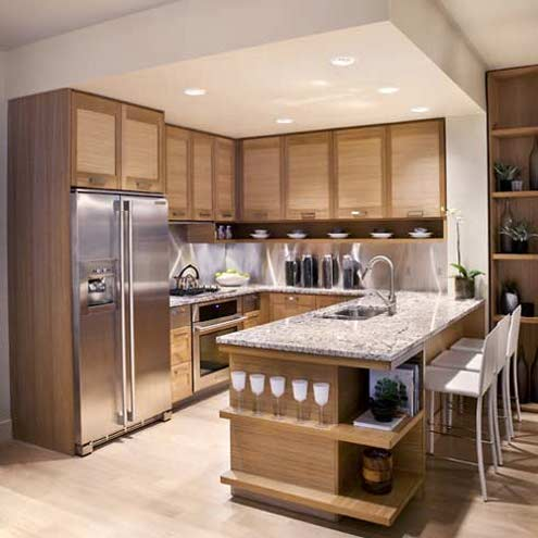 Latest kitchen cabinet designs an interior design for Kitchen cupboard layout designs