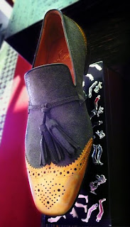 Christian Louboutin Men's gold toe, tassel flat.