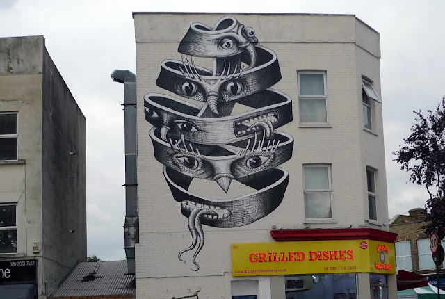 Our friend Phlegm is back in London, UK where he just finished working on a brand new piece in the district of Dulwich.
