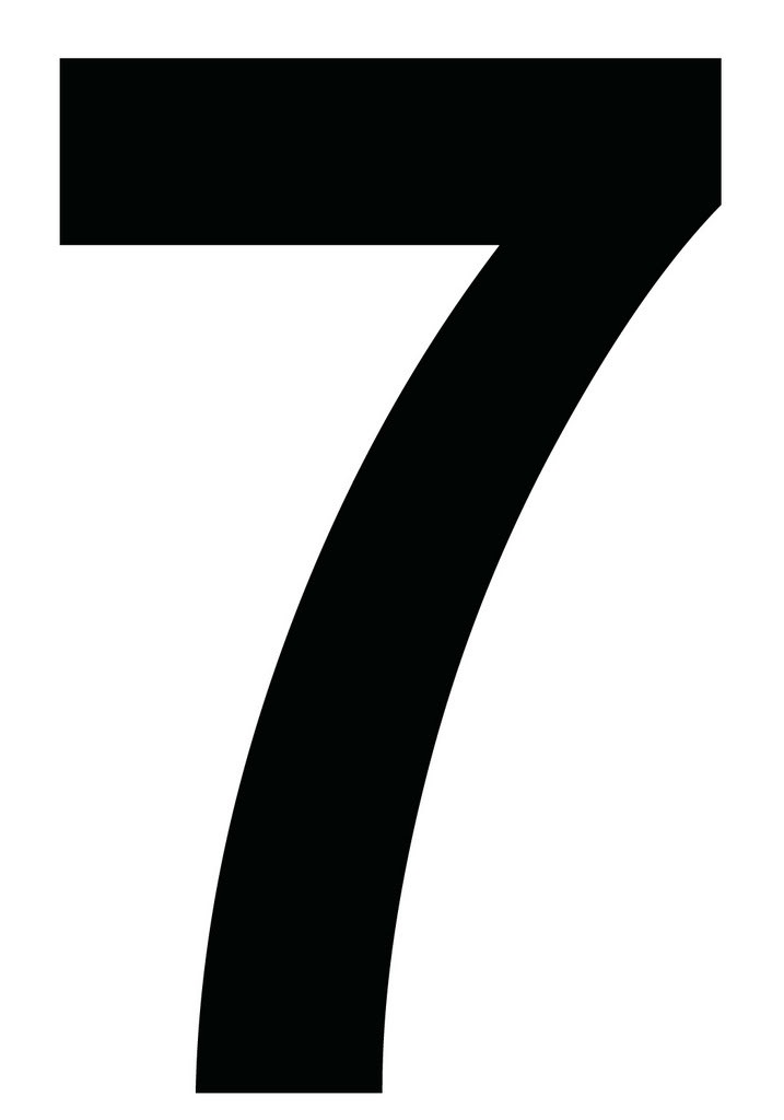 Number 7 Seven