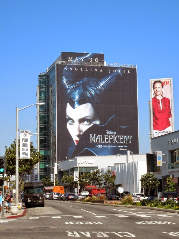Giant Disney Maleficent billboard Sunset Strip
