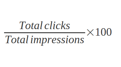 the way to calculate click through rate