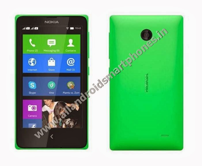 Nokia X+ 3G Dual Sim Android Smartphone Bright Green Color Front Back Side Photos Images Review