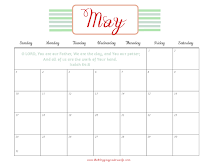 Printable Calendar For May 2015