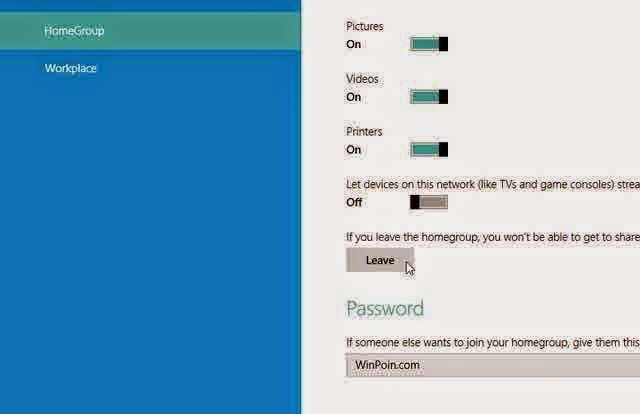 Tutorial Cara Keluar dari HomeGroup di Windows 8 dan Windows 8.1