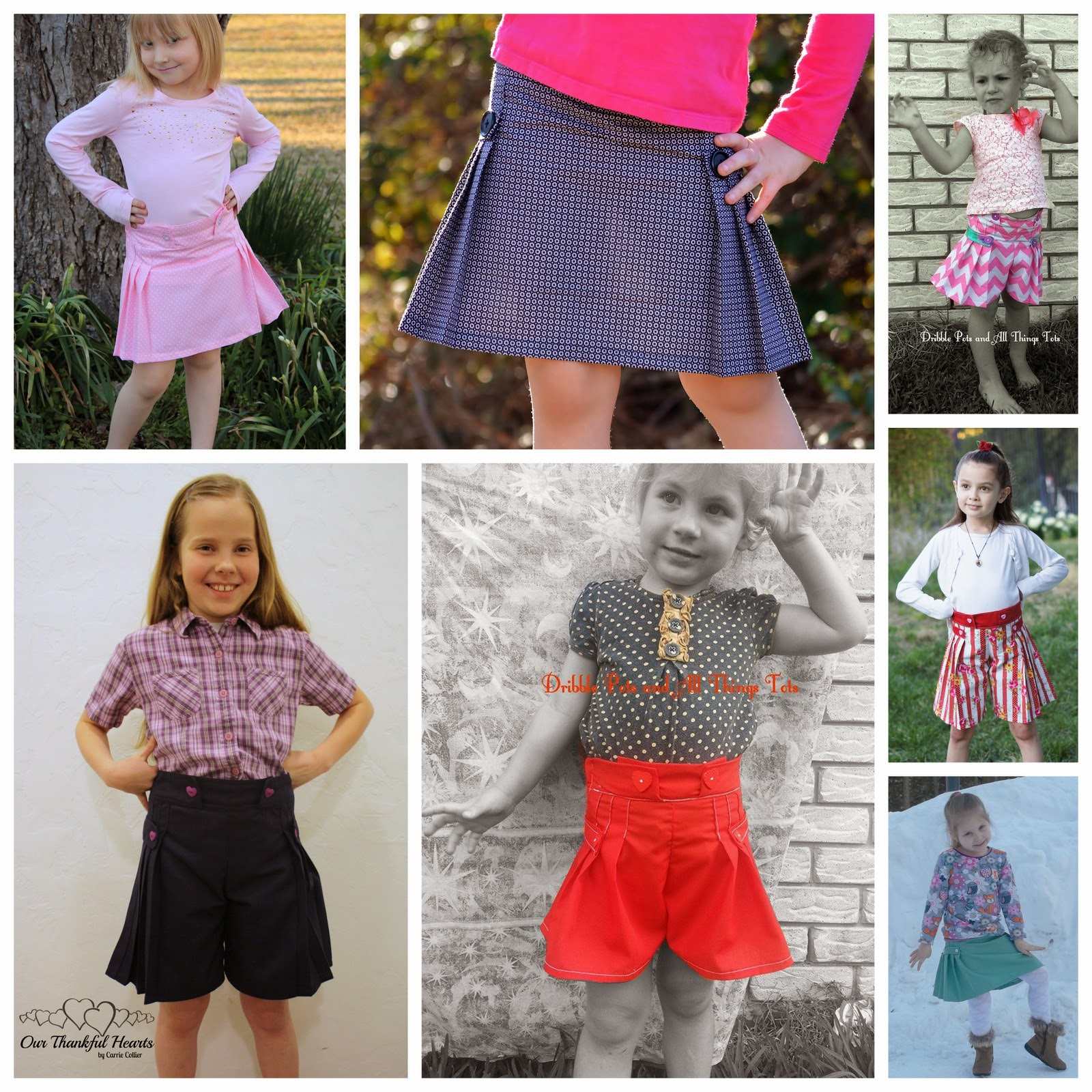 `Tally Pleated Skirt and Shorts PDF Pattern by GYCT