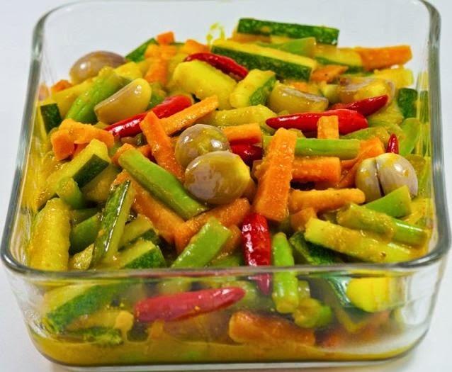 Resep Cara Membuat Acar Kuning Timun Wortel Enak | Resep Masakan ...