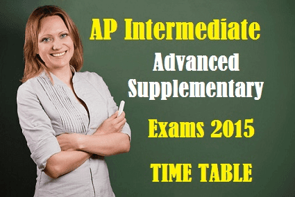 AP IPASE 2015 Inter Adv Supply Improvement Time Table 2015