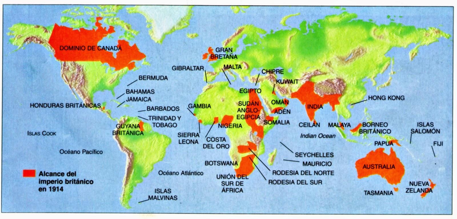 El imperio britnico en el siglo XIX 1815  1913  Enciclopedia
