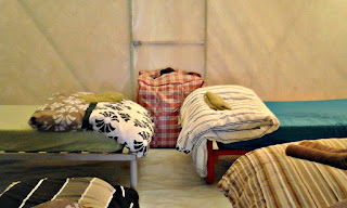 A sneak peak inside the Australian outback tent accommodation