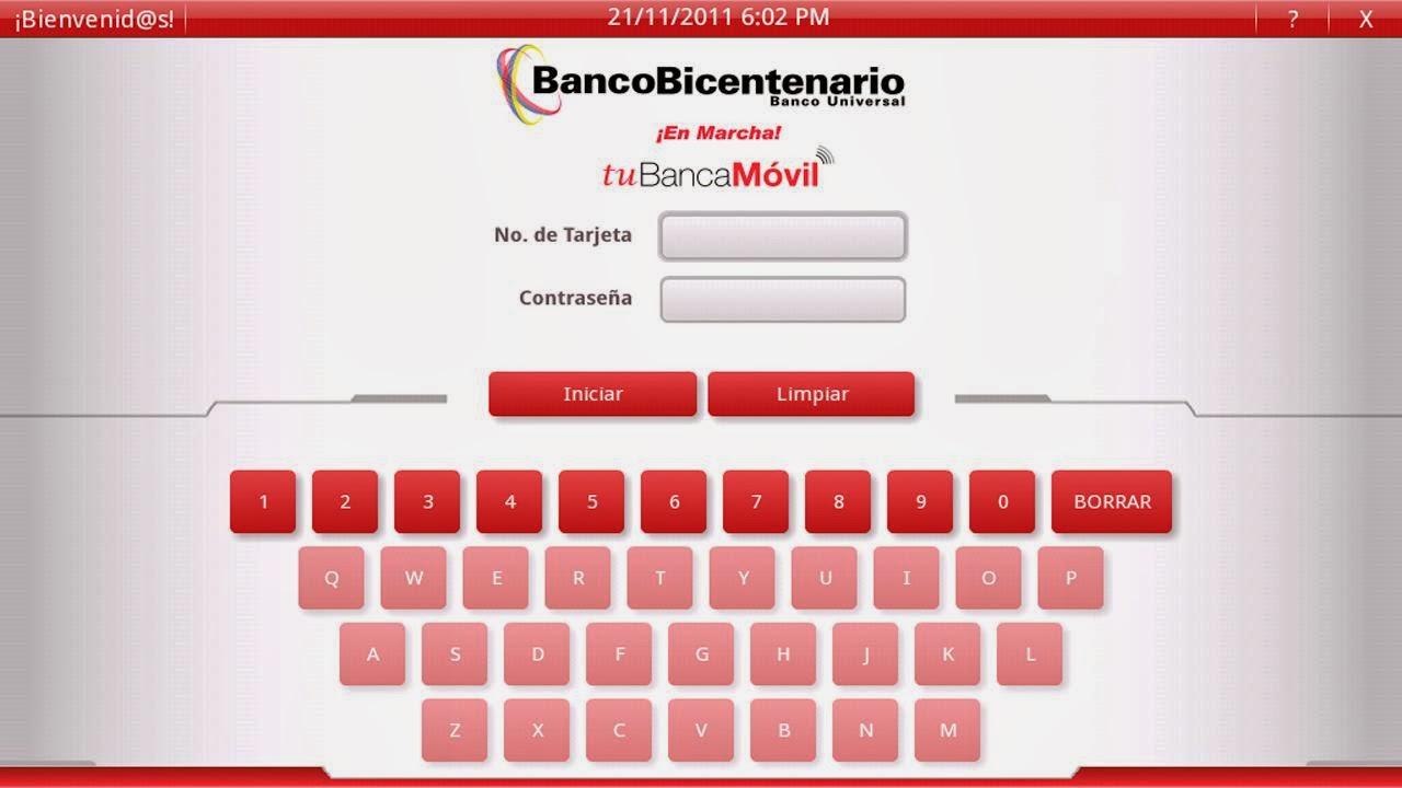 Banco bicentenario en linea for Banco de venezuela consulta de saldo