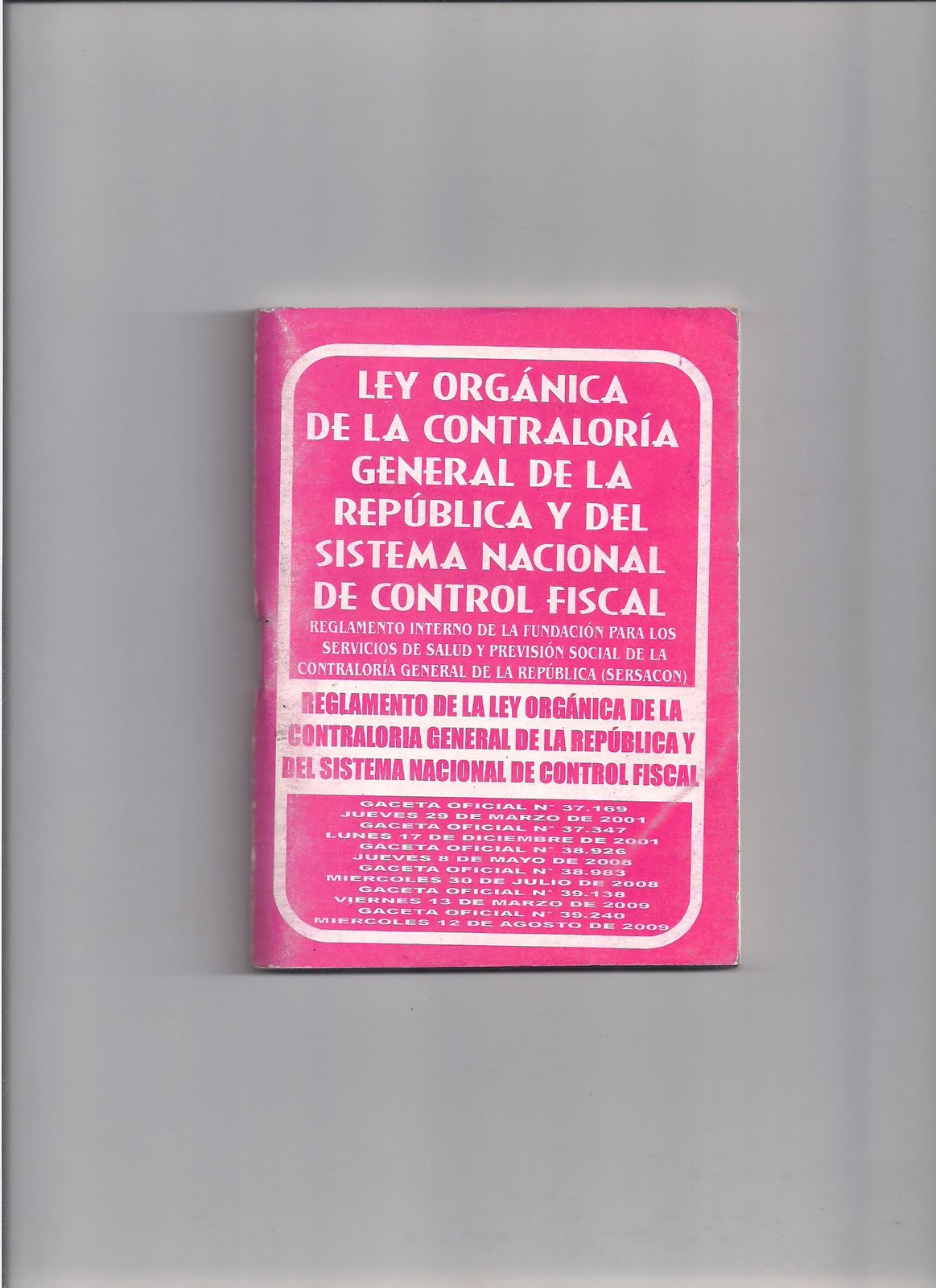 la ley general de la administracion publica: