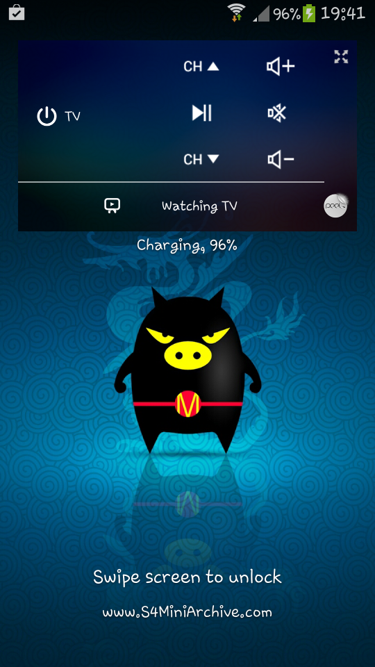 watch on lockscreen widget