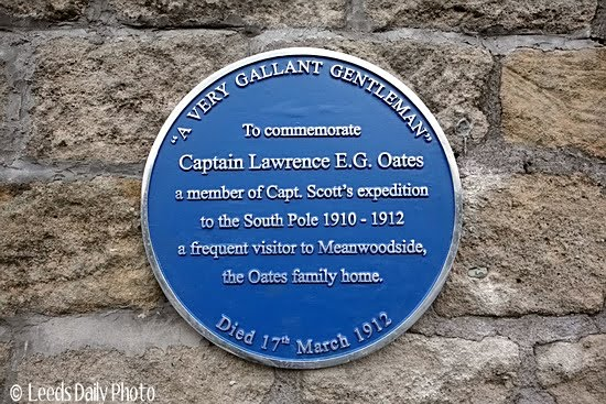 Blue Plaque Lawrence Oates