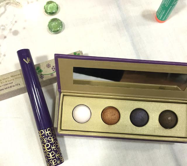 sugar plum eyeshadow palette and mascara