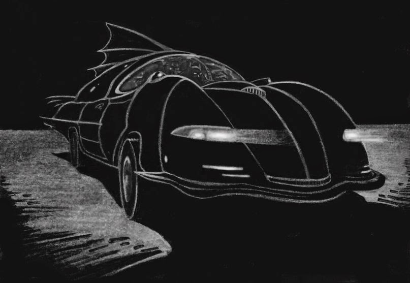 Tim Burton´s Batmobile concept art