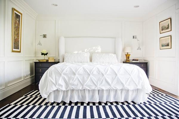 Navy white bedroom for jax on pinterest navy white for Gold bedroom accents