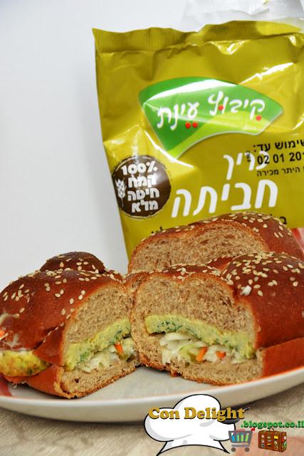 כריך חביתה עינת Omelet sandwich