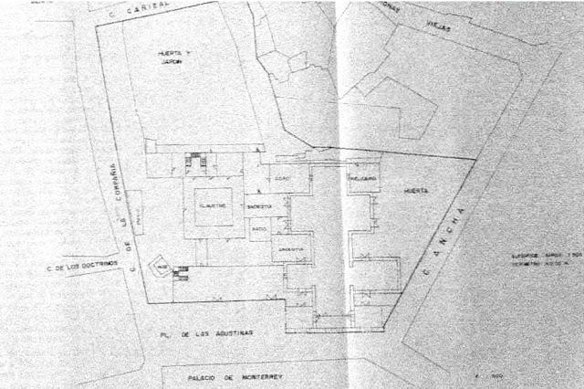 Esquema del monasterio según Ángela Madruga (2)