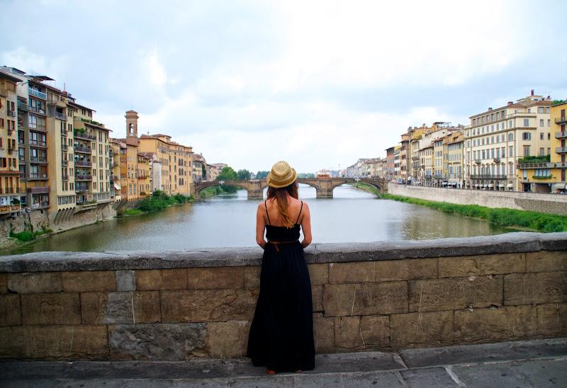 FLORENCIA, TRIP, ITALIA, STYLE, STYLISH, FASHION BLOGGER, BLACK DRESS, HAT, GLADIATOR SANDALS