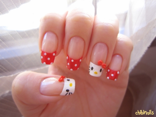 Hello Kitty Nail Designs with Bows