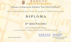 1º Premio a la Innovación Educativa Ayto de Burgos
