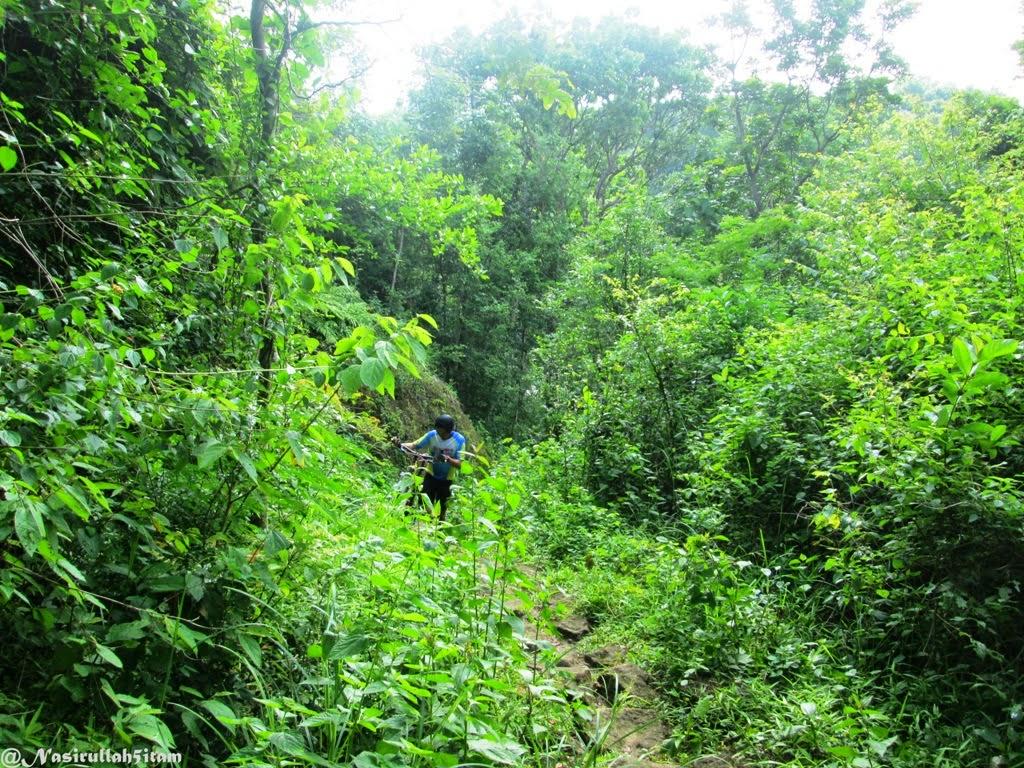 Jalanan menuju puncak Mbucu, Banyakan, Piyungan