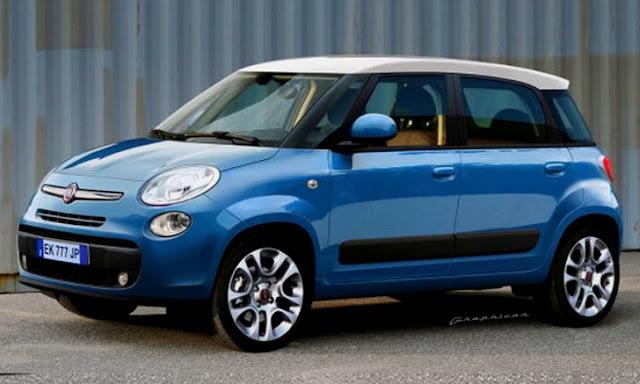 Rendering del MPV Fiat Ellezero (ora 500L)